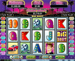 Big Shot Slot Screenshot at Silversands Casino