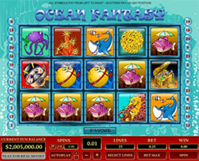 Screenshot of Ocean Fantasy Casino Slot