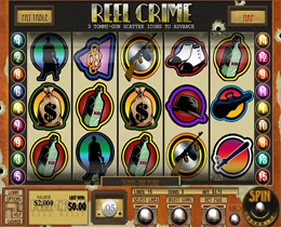 Screenshot of Reel Crime 1 - Bank Heist Casino Slot