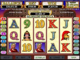 Caesars Empire Slot is available at Springbok Casino