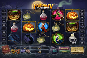 Screenshot of Halloween Fortune Slott